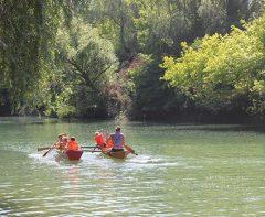 Bootfahrt auf dem Draußentag für die Vorschulkinder