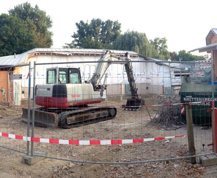 Der Umbau hat begonnen…